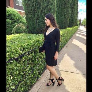 Dresses & Skirts - Black Wrap Dress